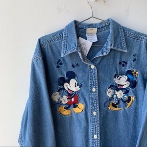 Y2K Minnie and Mickey Button Up